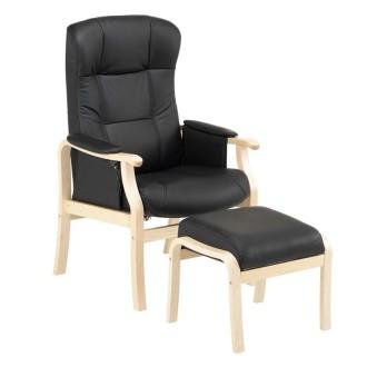 Solrød plus, Medium, lænestol med stof eller læderpolstring