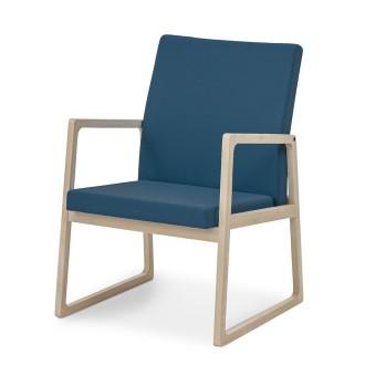 Saga XXL otiumstol/lænestol med lav ryg - stof