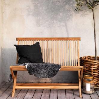 Turin havebænk i teaktræ - foldbar