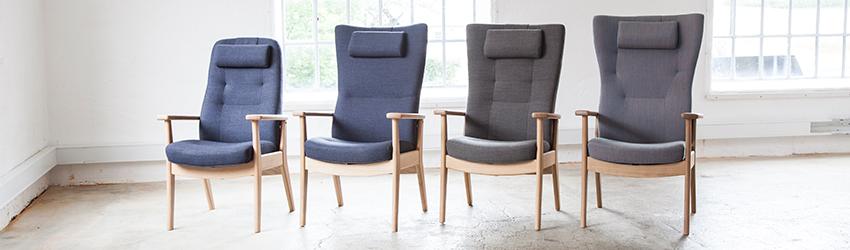 Showroom Glostrup løsning Osted Lejre Fyn Jylland Sjælland Stolespecialisten lænestol otiumstol løftestol liftstol stol med løft