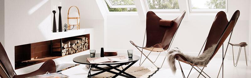 Ox denmarq - lækre designmøbler i læder og krom - designer af den kendte flagermusstol